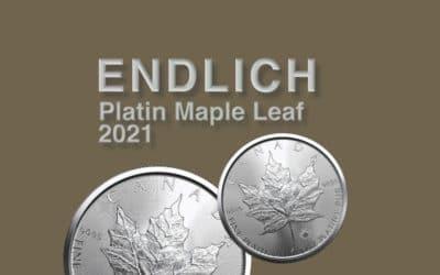 Neue Platin Maple Leaf – Platinmünze