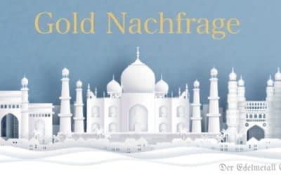 Goldnachfrage aus Indien steigt