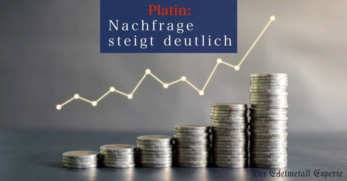 Platin Nachfrage steigt