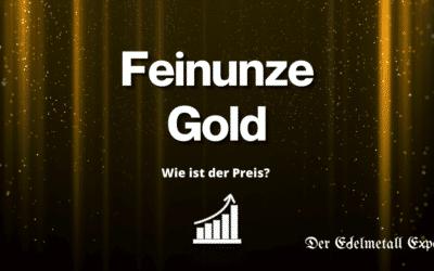 Feinunze Gold